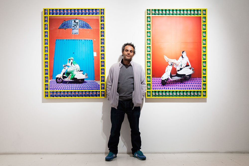Moroccan artist Hassan Hajjaj at Aria Art Gallery