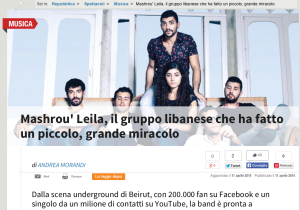 Repubblica.it Mashrou Leila