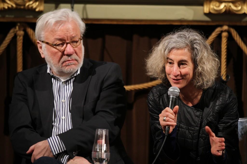Greenhouse mentors - Hans Robert Eisenhauer (Arte/ZDF) and Bruni Burres (Sundance Film Institute)
