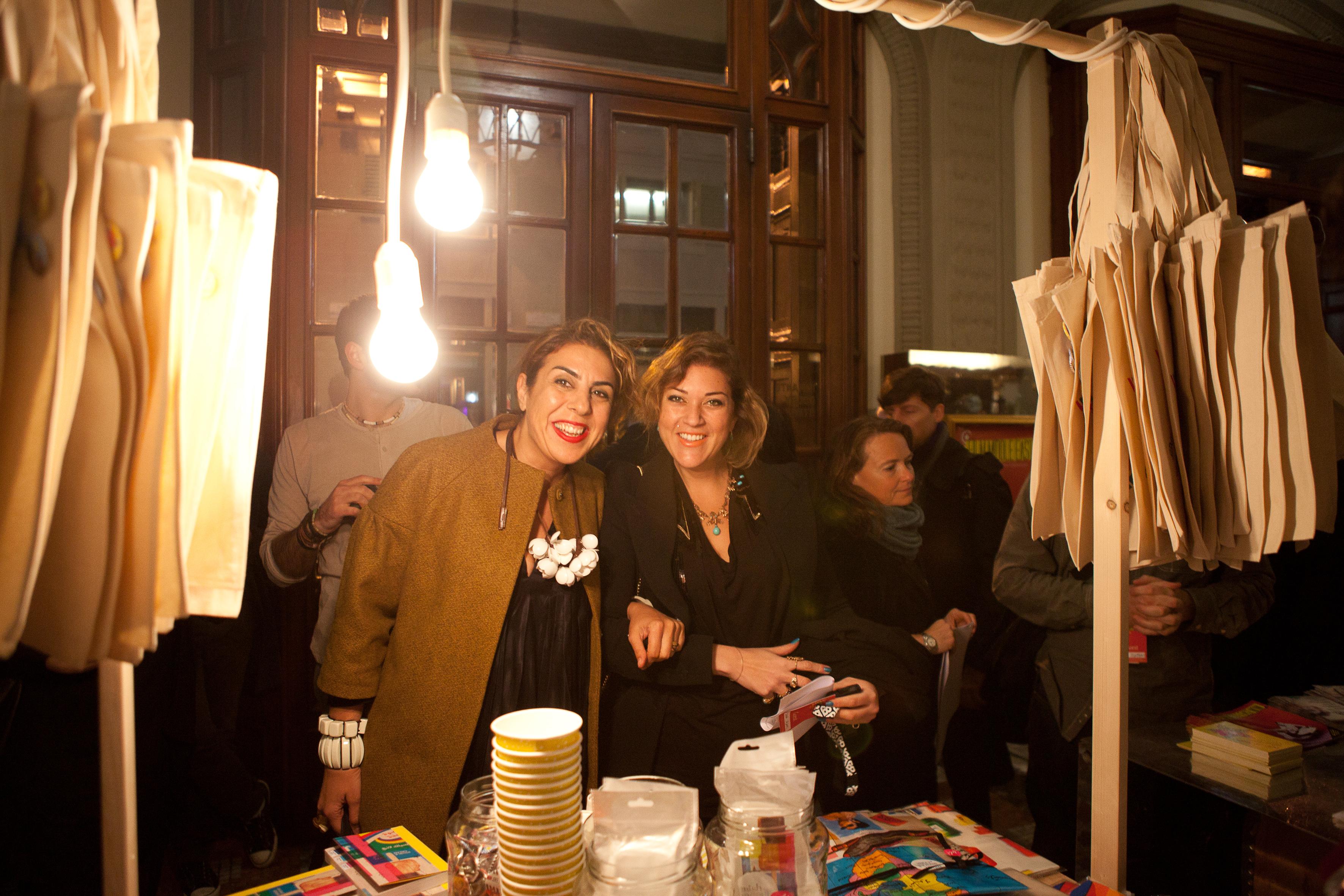 Lebanese designer Rana Salam and her assistant Dima Alami