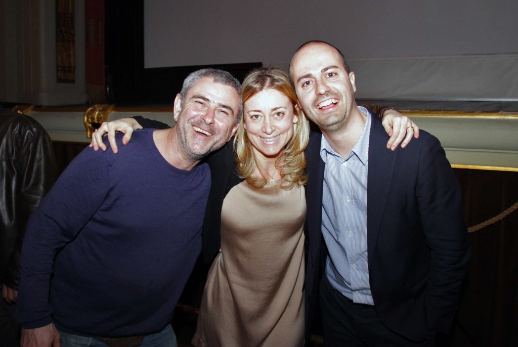 Director of 'The Reluctant Revolutionary' Sean McAllister with festival directors - Middle East Now 2012