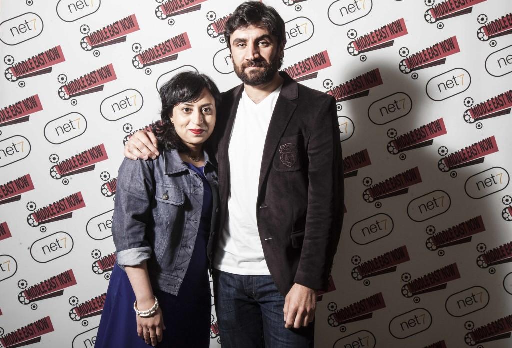 Director Sabah Haider and actor Korkmaz Arslan