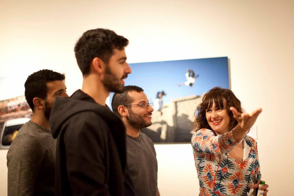 Opening exhibition 'Occupied Pleasures' - photographer Tanya Habjouqa with Mashrou' Leila