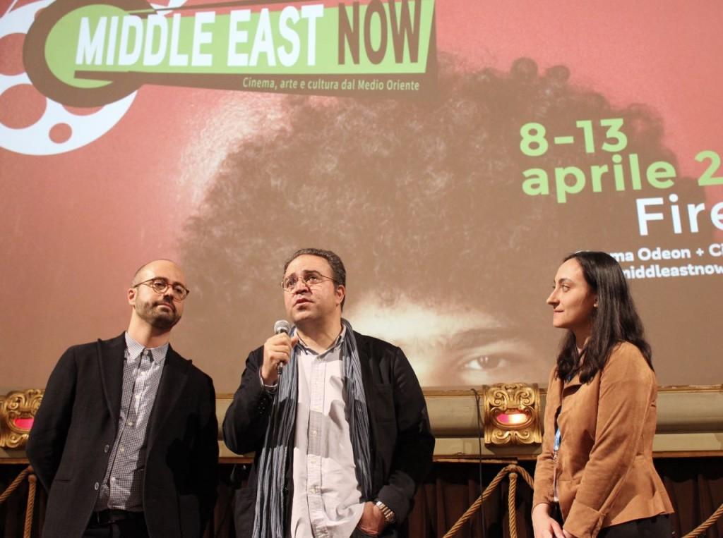 Syrian director Mohammed Ali Atassi and journalist Viviana Mazza (Corriere della Sera) Ph. Veronica Mencacci