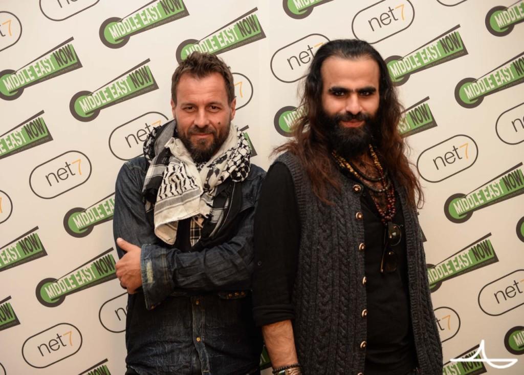 Jordanian producer Rashid Abdelhamid and Palestinian director Tarzan Abu Nasser Ph. Luca Morgantini