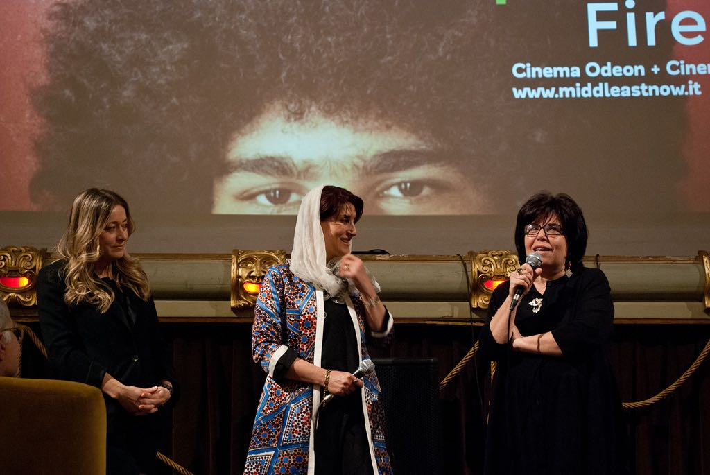 Iranian actress Simin Motamed Arya, festival special guest, with Felicetta Ferraro Ph. Stella Grotti