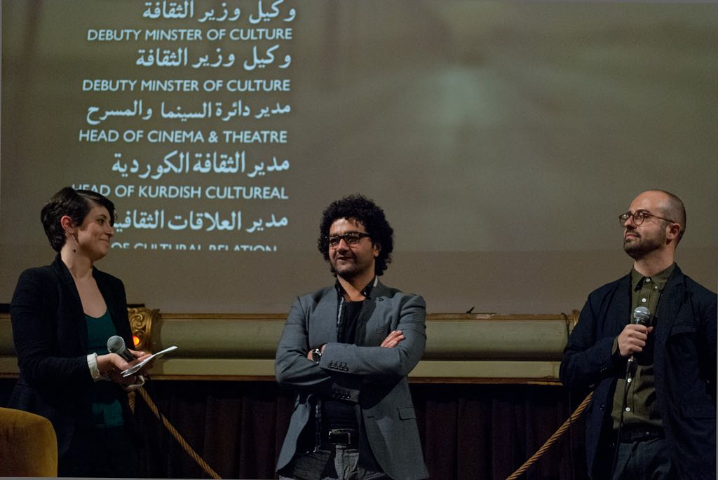 Journalist Cecilia Dalla Negra and Iraqi director Mohamed Al-Daradji Ph. Stella Grotti