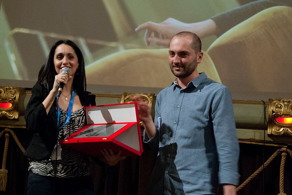 Lebanese director Anna Fahr, 'Best OFF' Award, with Simone Bartalesi Ph. Stella Grotti