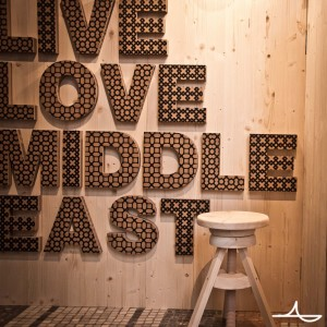 Festival theme 'Live & Love Middle East' backdrop