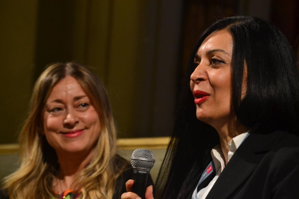 Festival director Lisa Chiari and Iranian director Mahtab Mansour