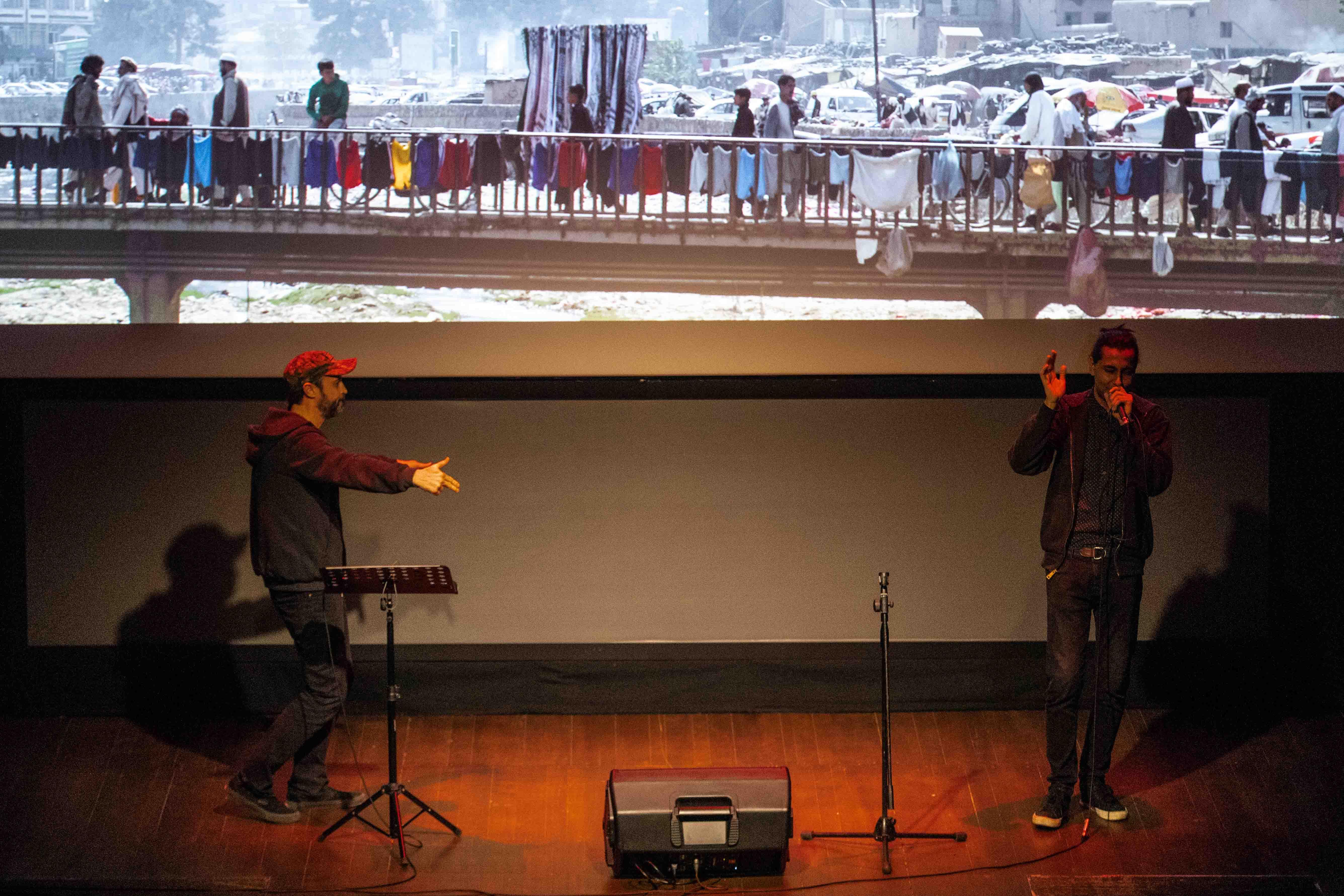 Closing Night Middle East Now_Rockabul performance by Travis Beard and Yusoof Ahmad Shah © Carlos Folgoso / Massimo Sestini